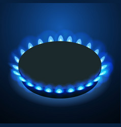 isometric gas burner or hob on a black background vector image