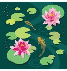 Quiet pond vector image