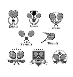 tennis icons for tournament award badges vector image