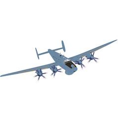 a military aircraft vector image