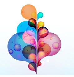 Abstract colored background with circles EPS10 vector image