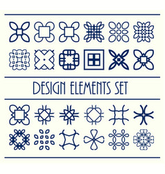 Abstract design creative decorative elements set vector