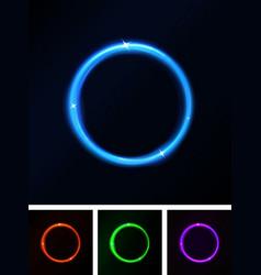 abstract shiny laser light circles vector image