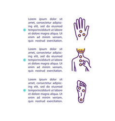 Acupressure concept icon with text vector