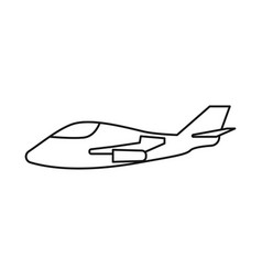 Aeroplane and space icon vector