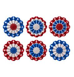 American bunting decoration vector