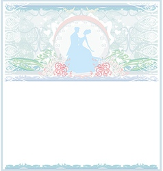 Ballroom wedding couple dancers - invitation vector image
