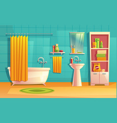 bathroom interior room with furniture vector image