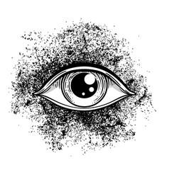 Blackwork tattoo flash eye providence masonic vector