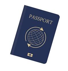 Blue passport vector image