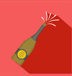 bottle of champagne icon flat style vector image