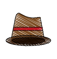 Brown hat cartoon vector