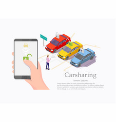 Car sharing service web banner template vector