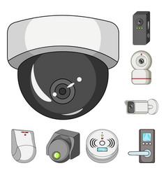 cctv and camera icon set vector image