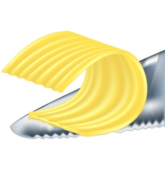 Cheese or butter vector
