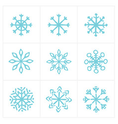 christmas snow icon set vector image