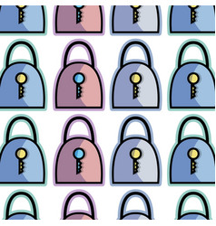color padlock security tool service background vector image