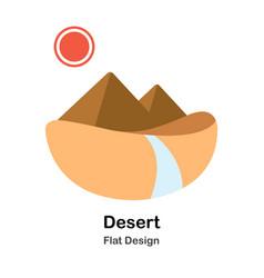 Desert flat vector