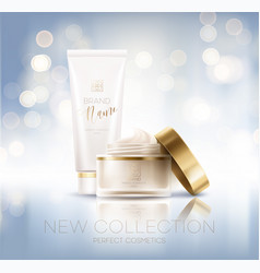 design cosmetics product advertising vector image
