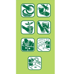 Domestic green cleaning vector