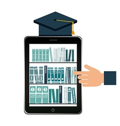Ebook technology vector