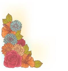 Elegant floral corner card vector
