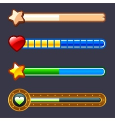 Energy progress game bar set vector