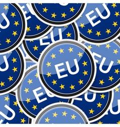 EU flag sticker symbol vector