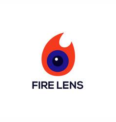 fire lens logo vector image