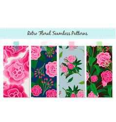 floral patterns set vintage english vector image