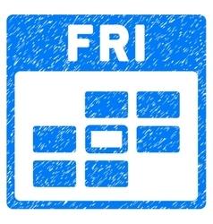 Friday Calendar Grid Grainy Texture Icon vector
