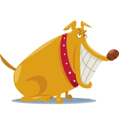 funny bad dog cartoon vector image
