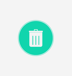 garbage icon sign symbol vector image