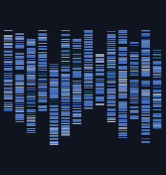 Genomic data visualization vector