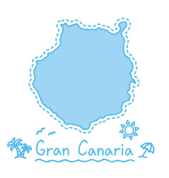 Gran canaria island map isolated cartography vector