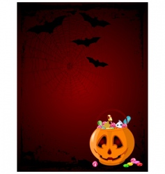 halloween treats background vector image