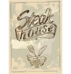 hand drawn steak vector image