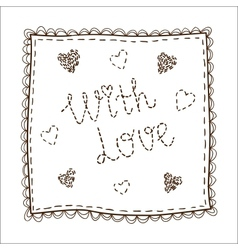 Handkerchief with embrodery vector