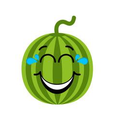 happy watermelon emoticon vector image