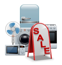 Household Appliances Sale vector image
