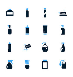 household chemicals icons set vector image