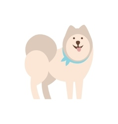 Husky Dog Breed Primitive Cartoon vector