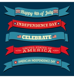 Independence Day Banners Collection vector image