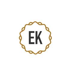 initial letter ek elegance creative logo vector image