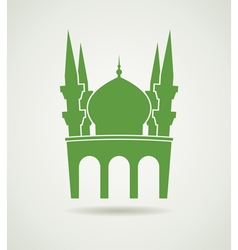 Islamic mosque icon vector