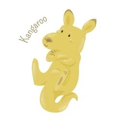 Kangaroo isolated on white background vector image