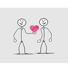man giving his heart vector image