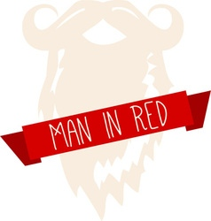 Man In Red vector image