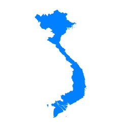 Map of Vietnam vector