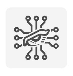 Micro chip icon vector